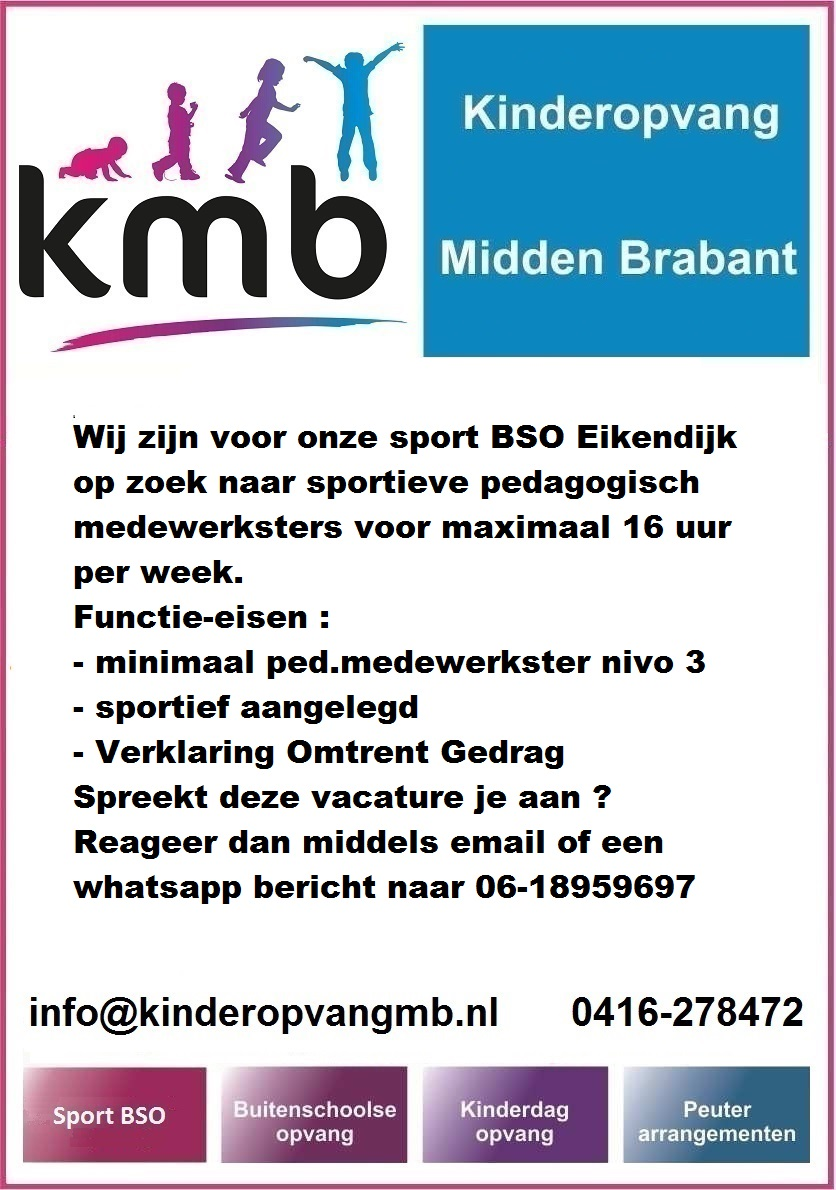 vacature sport bso